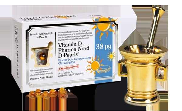 Vitamin D3 (D-Pearls) 38 μg 120 Kapseln